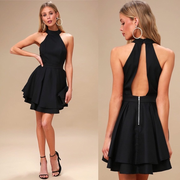 0a65b407e3ba Lulu's Dresses | Lulus Dress Rehearsal Black Skater Dress | Poshmark